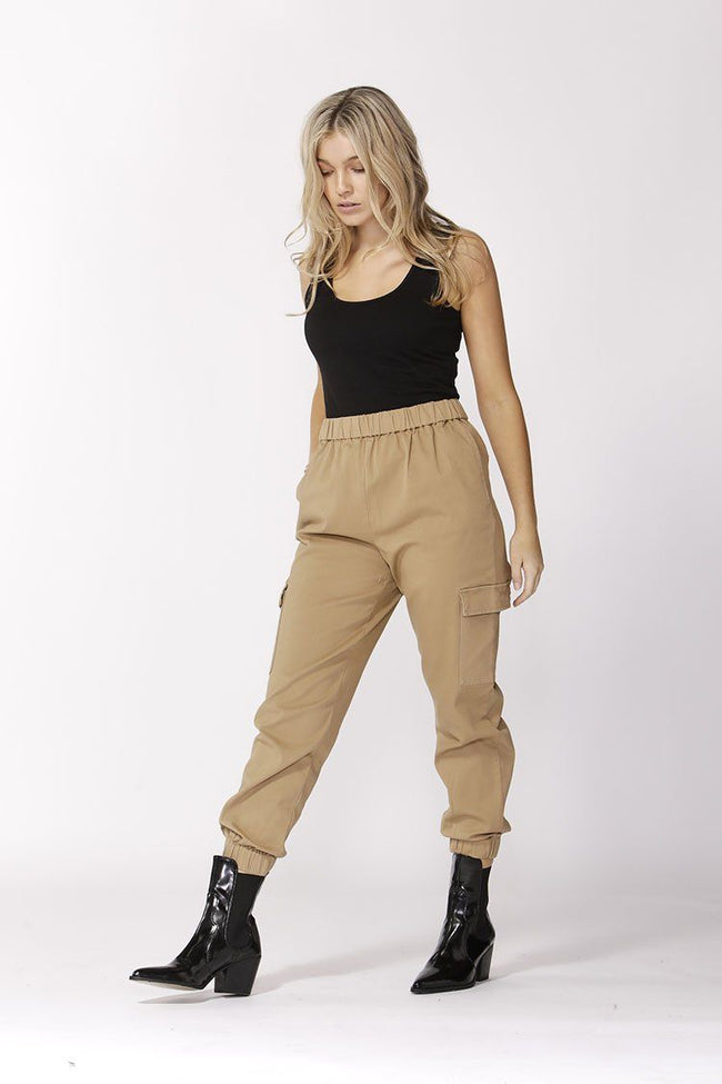 Take Charge Cargo Pants in Latte | FINAL SALE