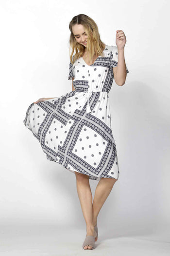 Amalfi Hi Low Dress in Amalfi Print
