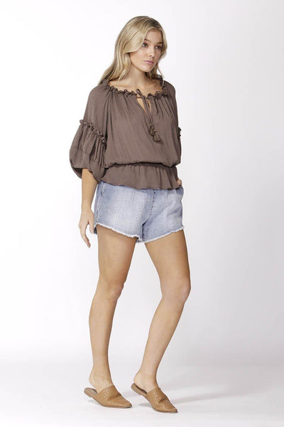 Boho Top in Chocolate Tops SASS