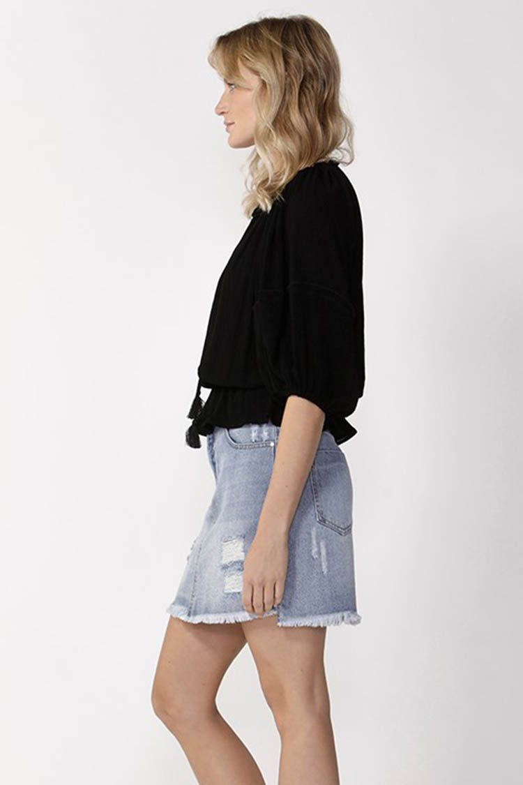 Boho Top in Black