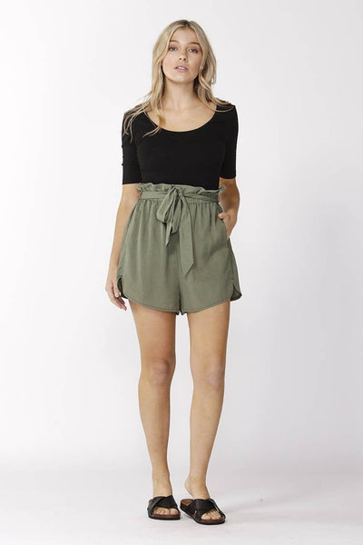 Ellie Short in Khaki Bottoms SASS