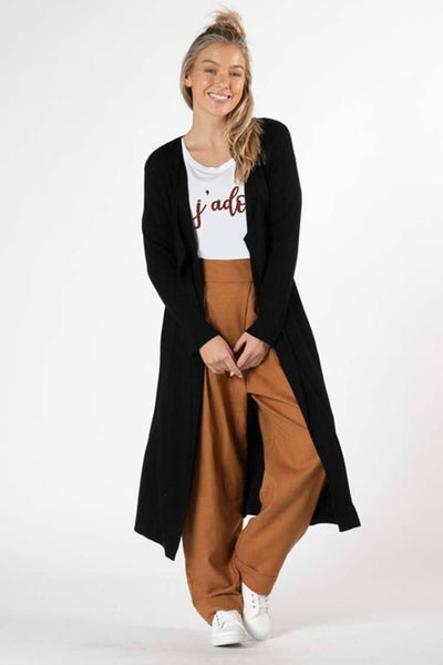 Selby Rib Cardi in Black Jackets & Outerwear SASS