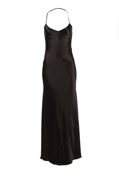 Senna V Neck Long Dress in Black Dresses Lucy Laurita - Leiela
