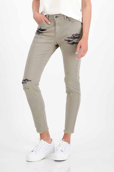 Sequins Jeans in Truffle Bottoms Monari