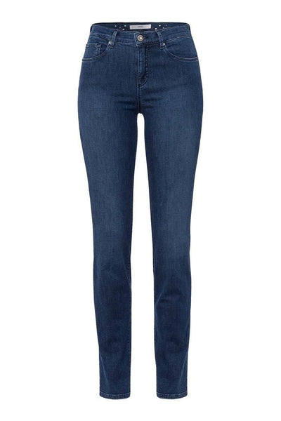 Shakira Thermo Plain Jean in Used Regular Blue Bottoms Brax