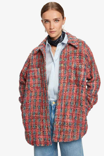 Shirt Jacket in Tweed Fabric Jackets & Outerwear Maison Scotch