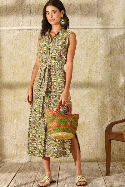 Siboiga Dress in Etnic Green Dresses Totem