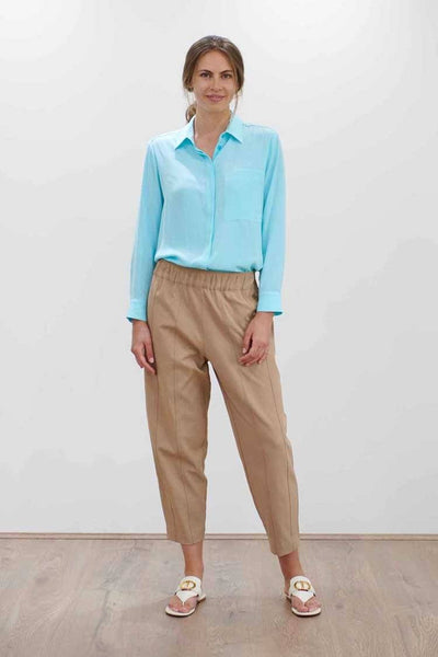 Single Pocket Shirt in Aqua Tops Mela Purdie