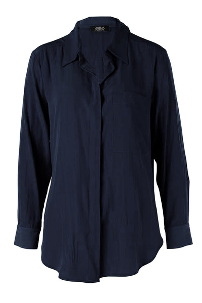 Single Pocket Shirt in Navy Tops Mela Purdie