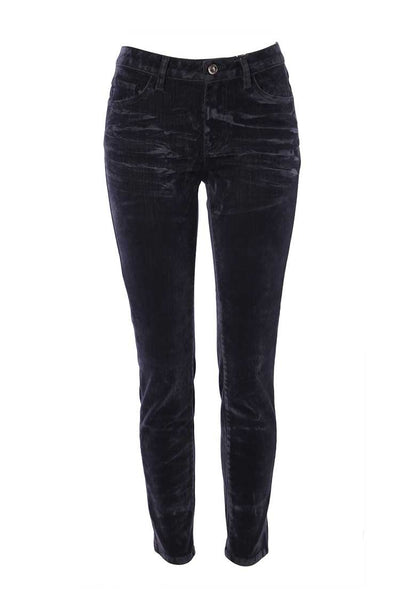 Skinny Velvet Look Jeans Bottoms Monari