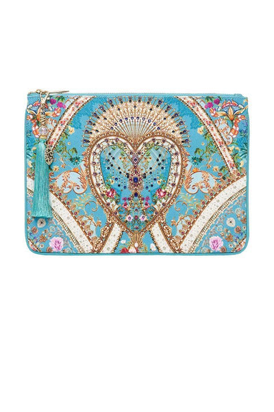 Small Canvas Clutch in A Sonnet For Satine Accessories Camilla