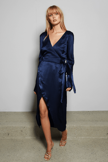 Sylvie Wrap Midi Dress | FINAL SALE