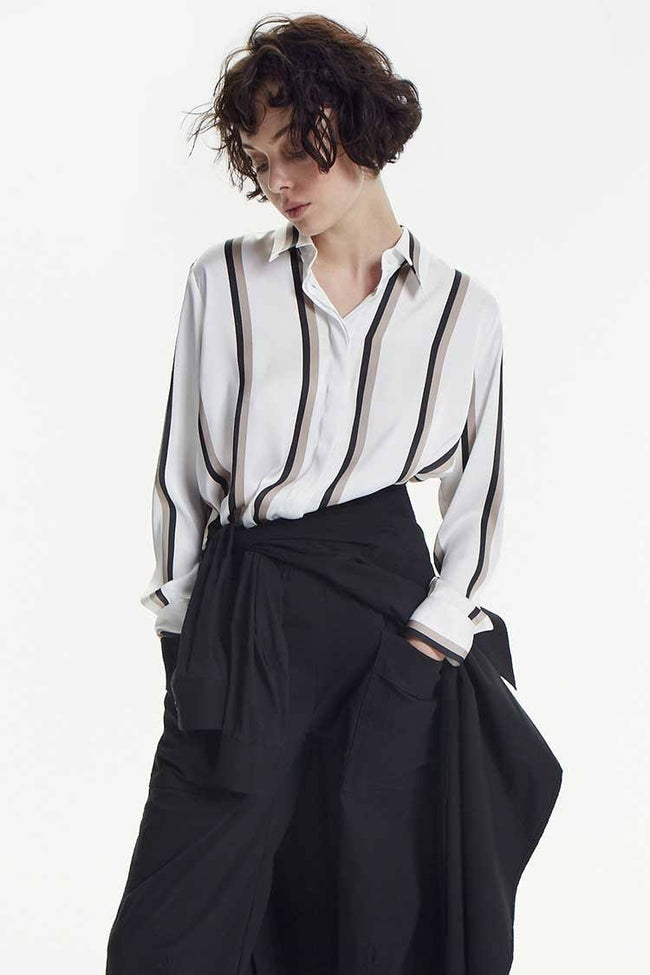 Soft Shirt in Moulin Stripe