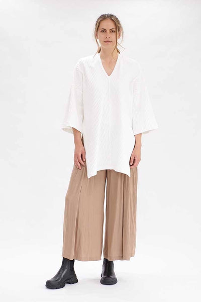 Soft Vented Pant in Cognac Bottoms Mela Purdie