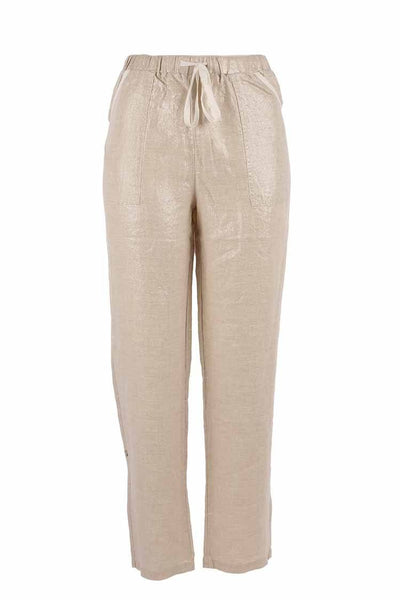 Stella Pant in Nat/Foil Bottoms Milson