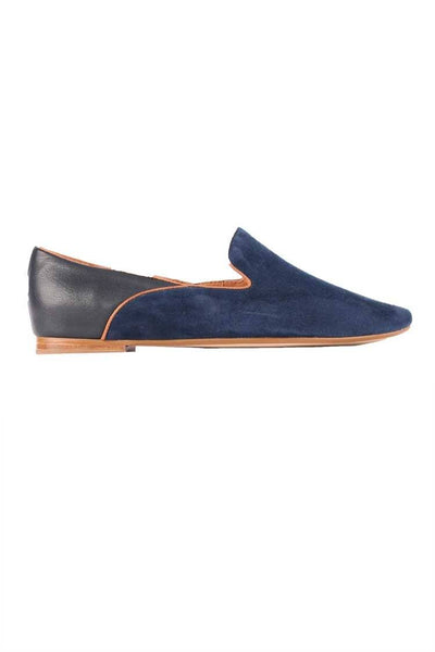 Sunset Flat in Navy Shoes Top End