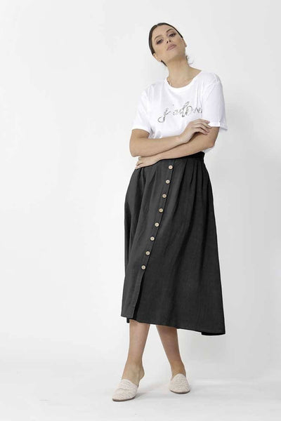 Sutton Skirt in Black Bottoms SASS