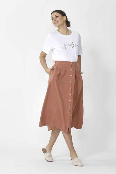 Sutton Skirt in Terracotta Bottoms SASS
