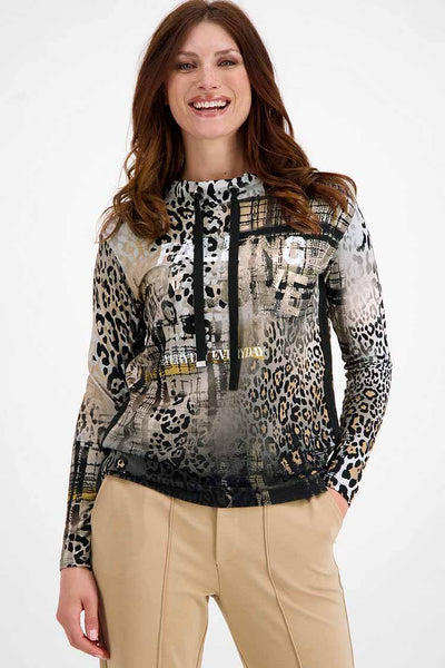 T-shirt in Mixed Pattern Tops Monari