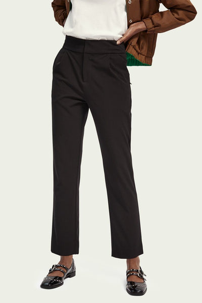 Tailored Pleated Pants in Black Bottoms Maison Scotch