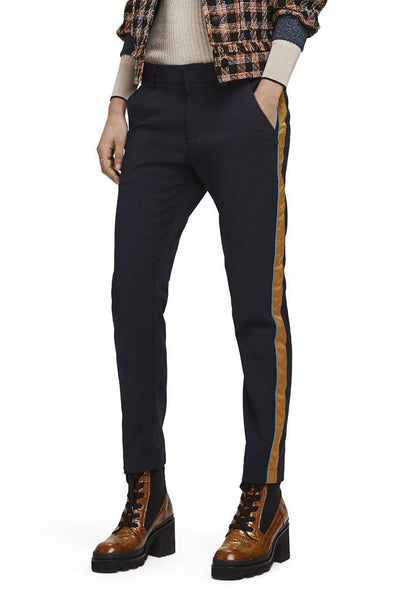 Tailored Stretch Pant w Side Panel | FINAL SALE Bottoms Maison Scotch