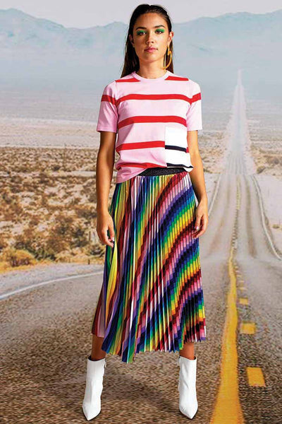 Take A Pleat Skirt in Rainbow Bottoms Cooper