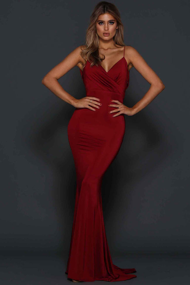 Shop Online Tess in Cherry by Elle Zeitoune  Frockaholics Dresses