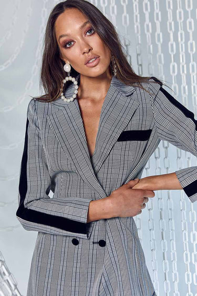 The Duchess Blazer in Check Jackets & Outerwear Mossman