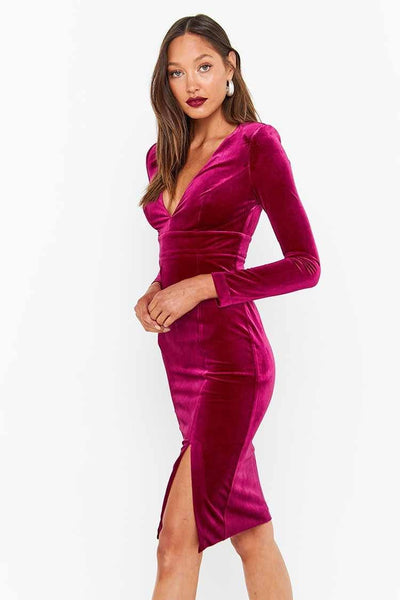 The Jagger Dress in Berry Dresses Mossman