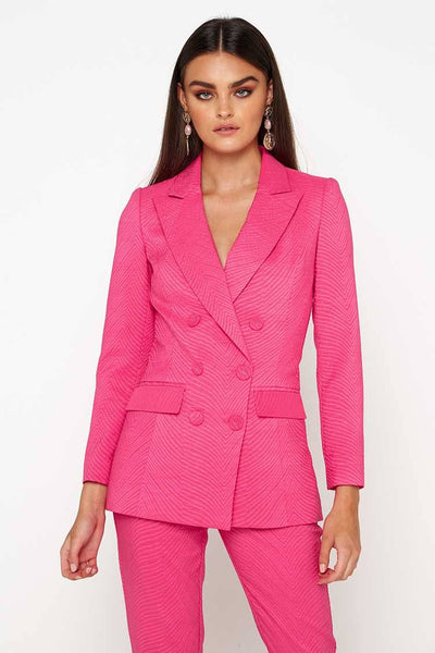 The Tea Party Blazer in Pink Jackets & Outerwear Mossman