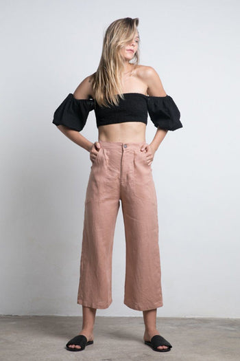 Topaz Pant in Dusty Rose