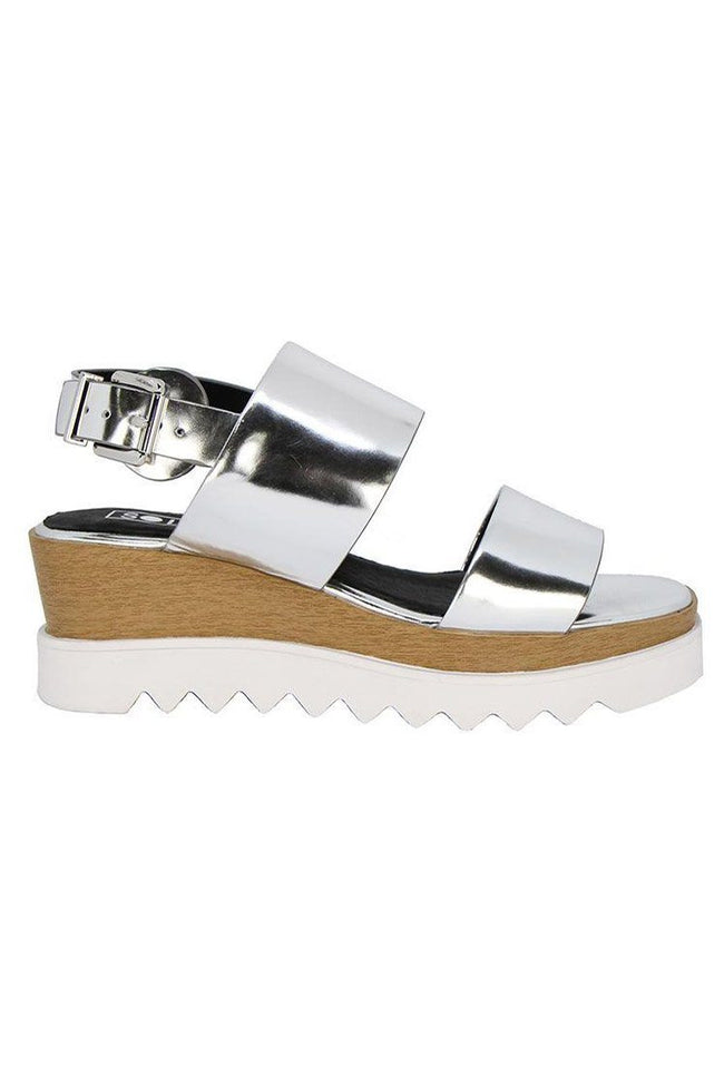 Traci Wedge in Silver Gloss | FINAL SALE