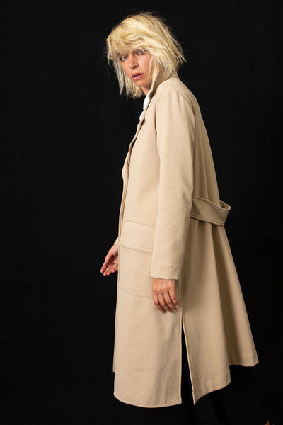 Trench Coat in Bisque Jackets & Outerwear Mela Purdie
