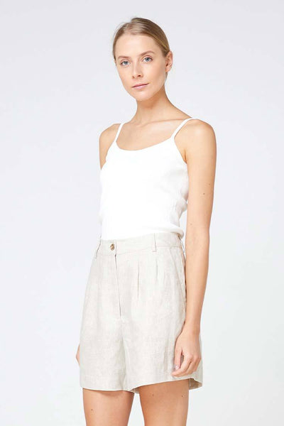 Tropea Short in Natural Bottoms Elka Collective