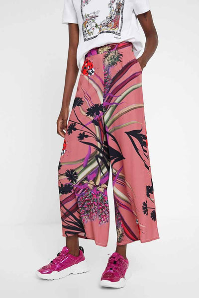 Tropical Culottes in Lilas Bottoms Desigual