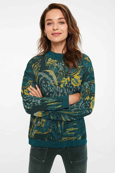 Tropical Knit Jumper Tops Desigual