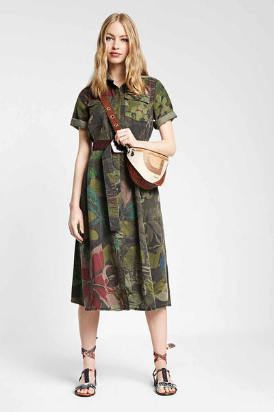 Tropical Shirt Dress Dresses Desigual