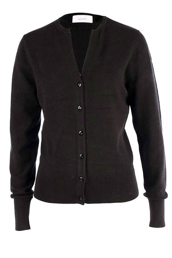 V-Neck Cotton Cardi in Black