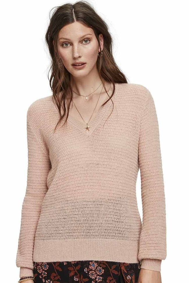 V-Neck Pull w Lurex | FINAL SALE