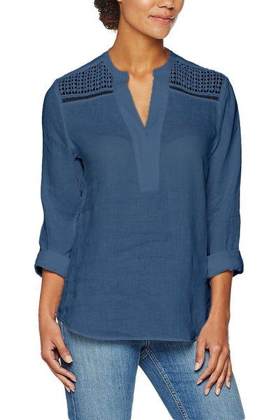 Vaida Blouse in Washed Blue Tops Brax