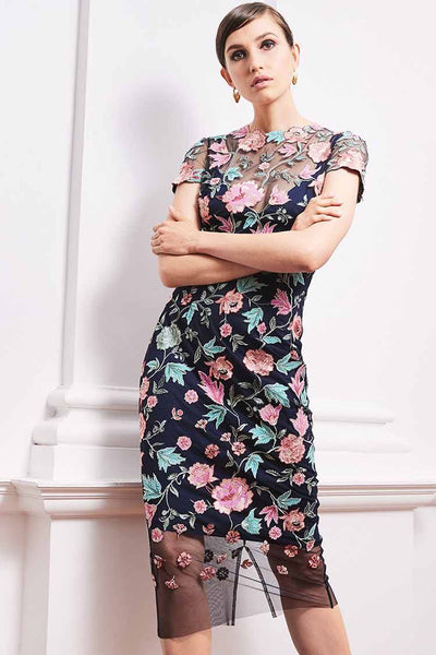 Valerie Dress in Pink Floral Dresses Moss & Spy