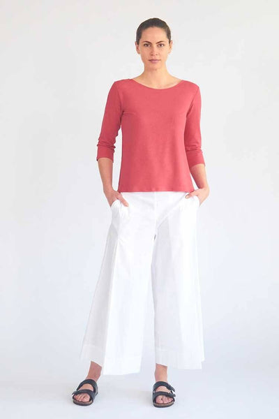 Vented Culotte in White Bottoms Mela Purdie