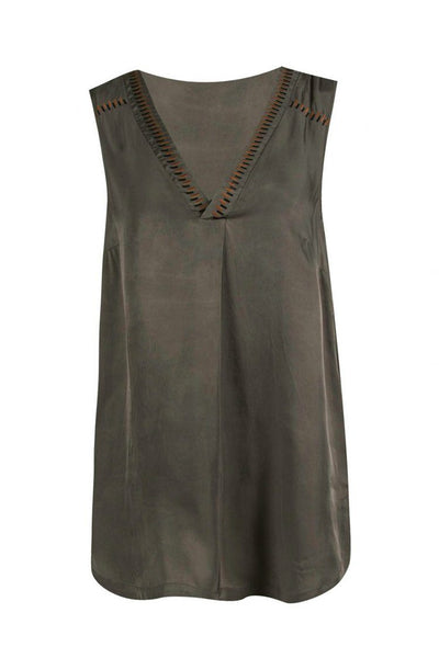 Attract Tank Top in Olive Tops Verge