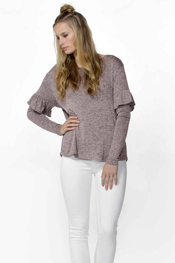 Ace Ruffle Sleeve Top by SASS Frockaholics.com