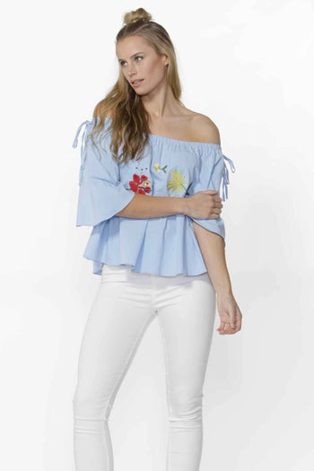 Alexus Floral Embroidered Top