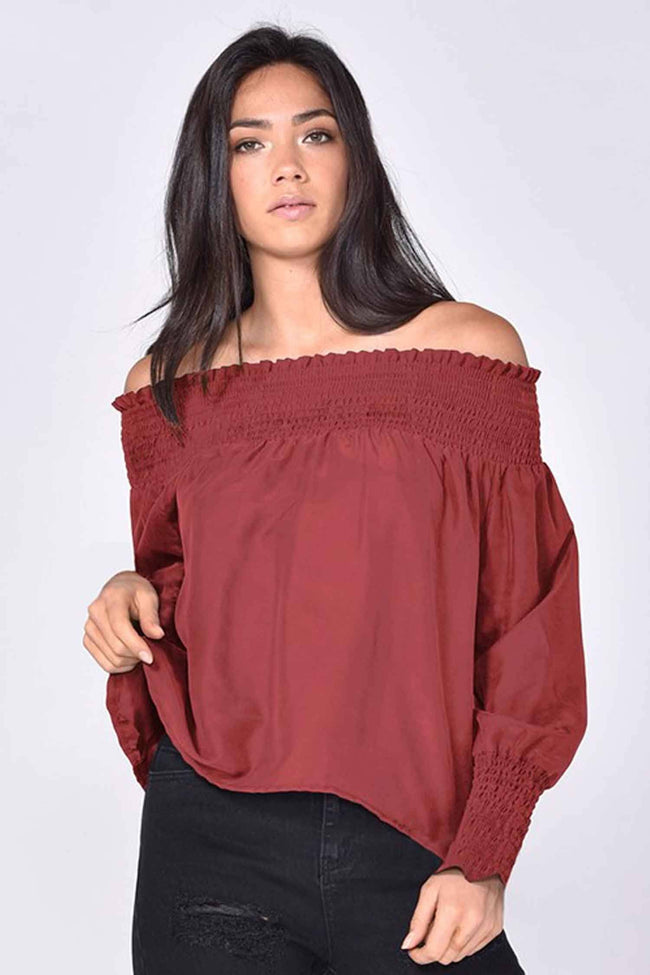 Matisse Silk Blouse in Rosewood