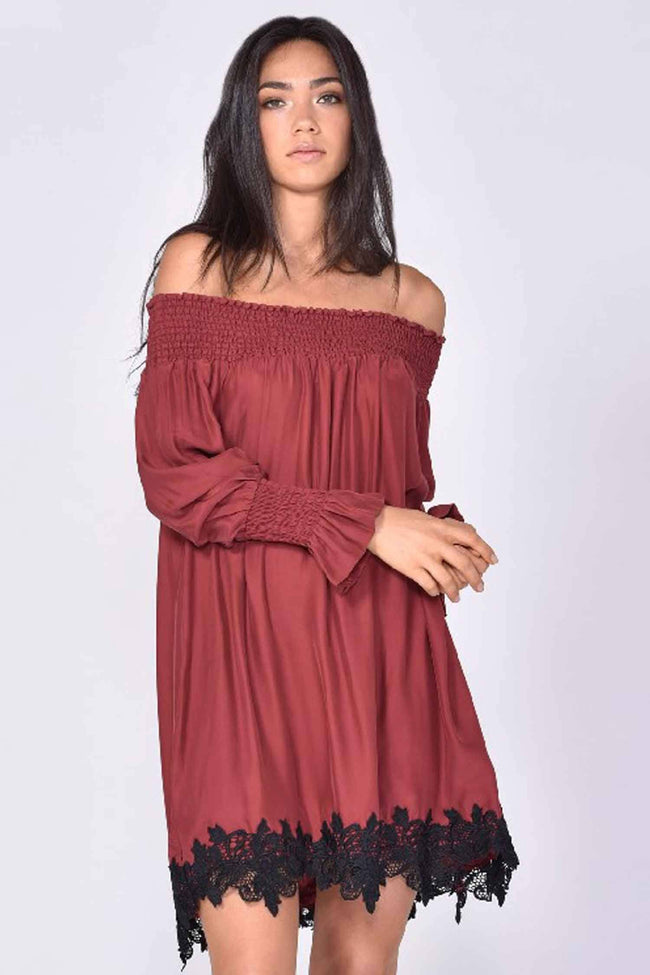Matisse Silk Dress in Rosewood