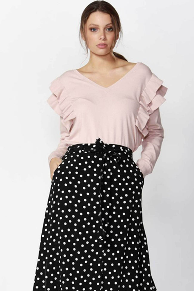 Shop Online Dream Girl Ruffle Jumper by Fate + Becker  Frockaholics Tops