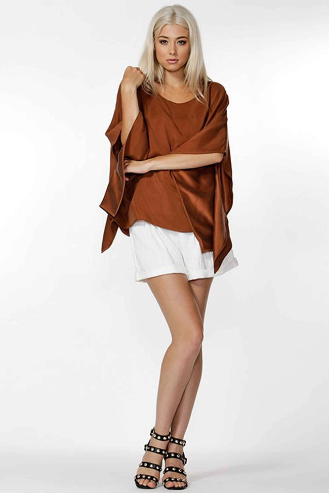 Evangeline Silk Blouse in Spice