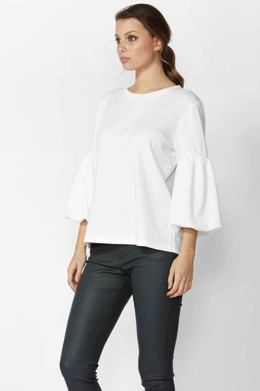 Shop Online Grecia Textured Top in Snow White by Fate + Becker  Frockaholics Tops